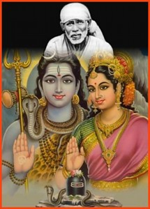 Shiva and Parvati appear to announce the birth of Shirdi Sai Baba. Read more on the website http://7dagenshirdisai.nl
