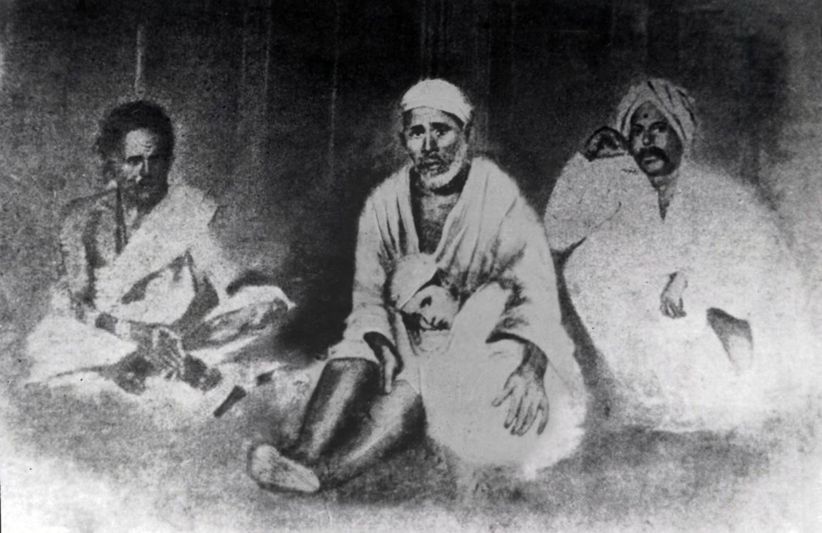 Shirdi Sai Baba with son of Khaparde