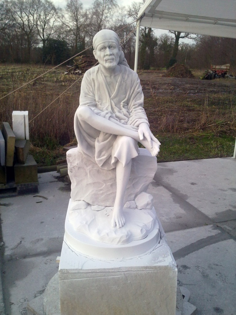marble Shirdi Sai Baba statue-carving finished